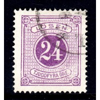 L.7a, 24 öre Postage Due perf. 14,  , rare shade