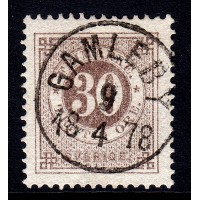 F.35d, 30 öre Circle type perf.13, GAMLEBY 9-4-78 [H/SM], extra fine/superb